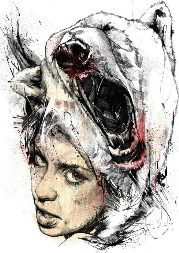 Эмоциональные рисунки. Russ Mills 11