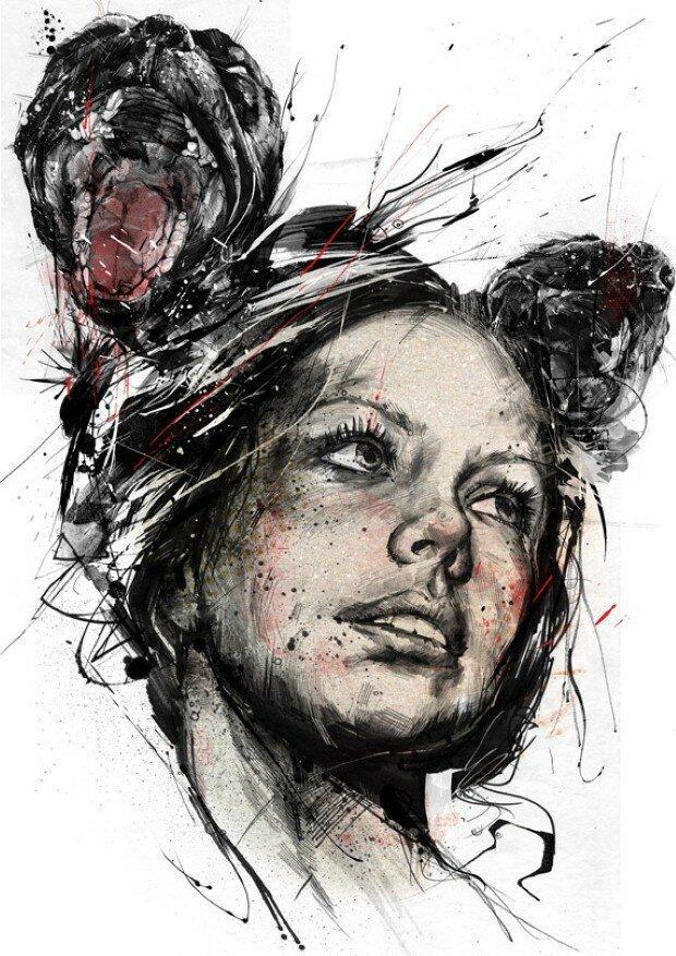 Эмоциональные рисунки. Russ Mills 23
