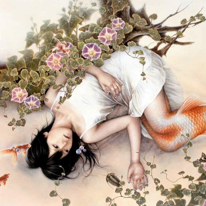 позитивные картинки японского художника поездки
