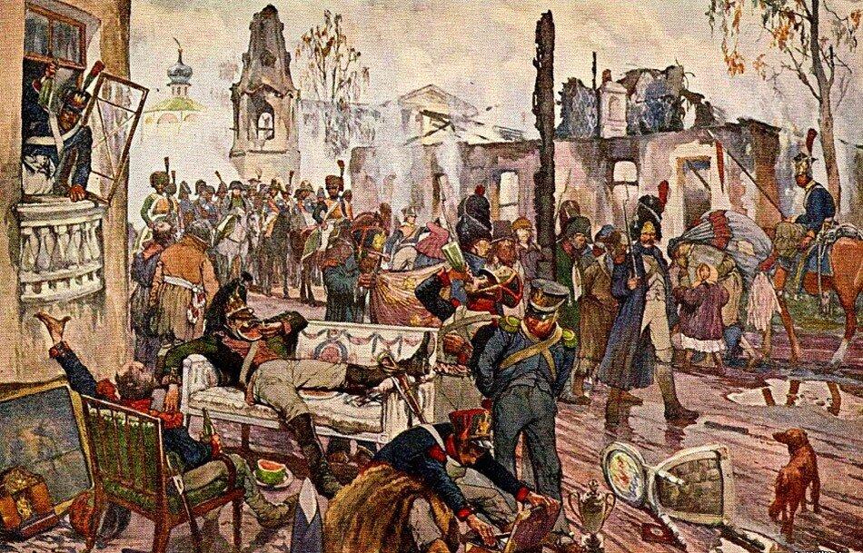 пожар в москве в 1812 году картинки