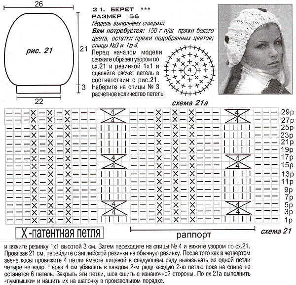 Вязание на спицах схемы и модели бесплатно шапки