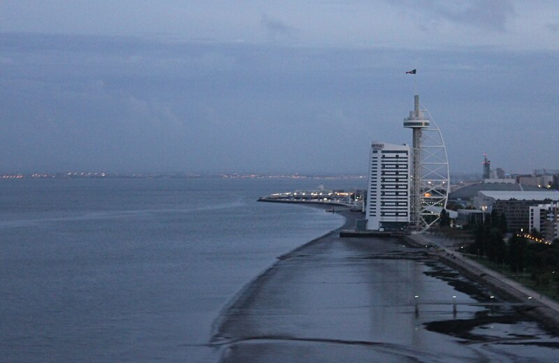 Лиссабон. Вид с моста Васко да Гама. View from Vasca da Gama bridge
