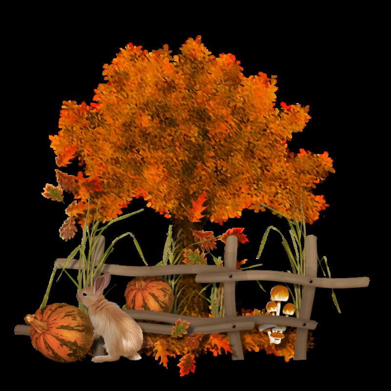 Осенний пейзаж картинка для детей на прозрачном фоне