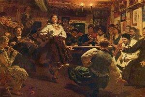 Вечером приглашенные  собирались    в доме именинника, там    устраивался праздничный ужин с песнями и танцами.