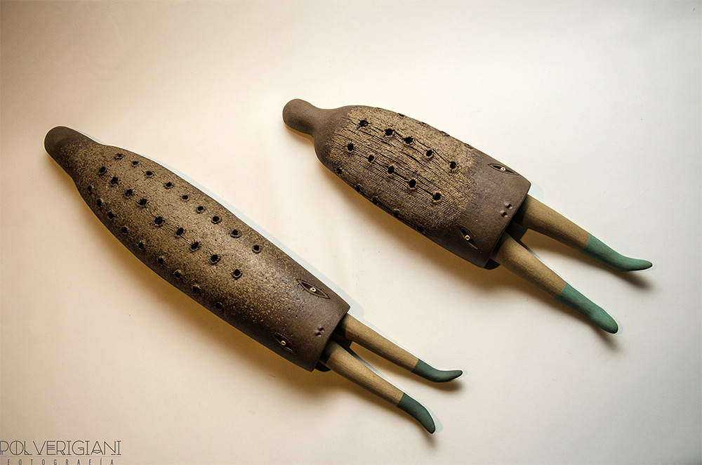 Керамические игрушки Luciano Polverigiani
