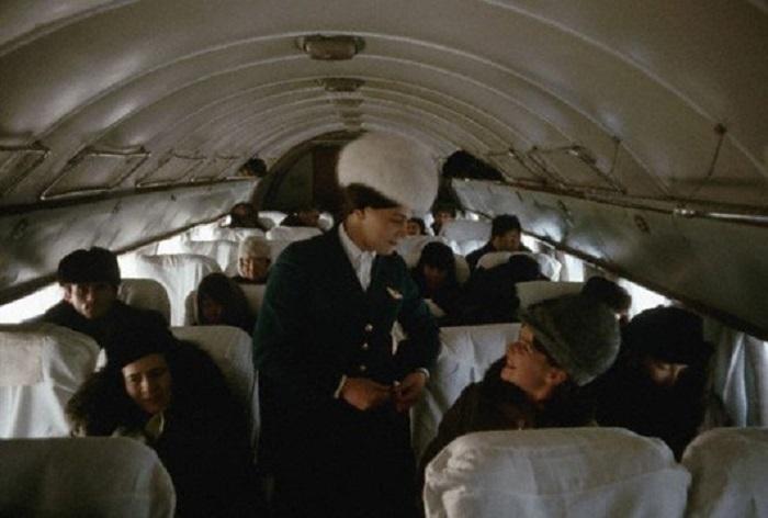 Стюардесса Тамара на Ил-14, рейс Иркутск – Якутск, 1966 год.
