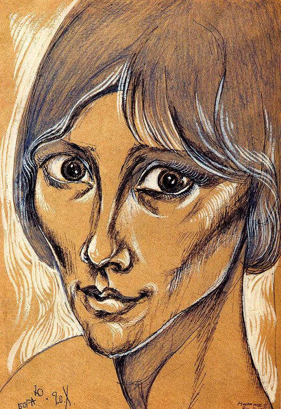 Наталья Варлей. Рисунок Юрия Богатырева.