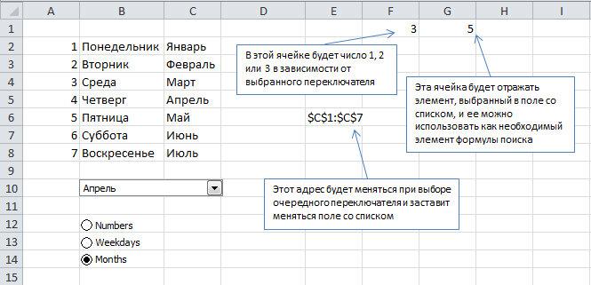 Трюк №23. Как в Excel определить поддержку нескольких списков в поле со списком
