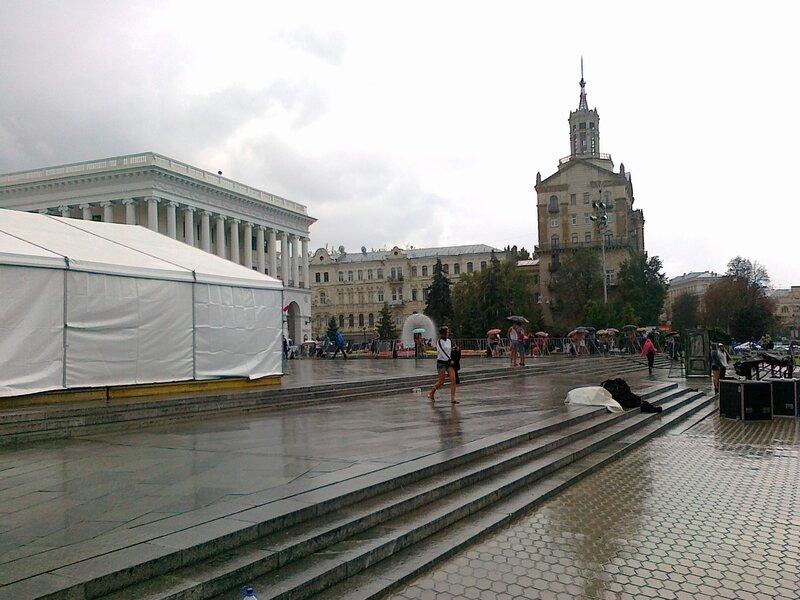 Дождь во время репетиций Майданс-3