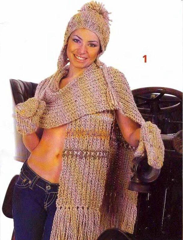 вязание спицами юбки для девочки.