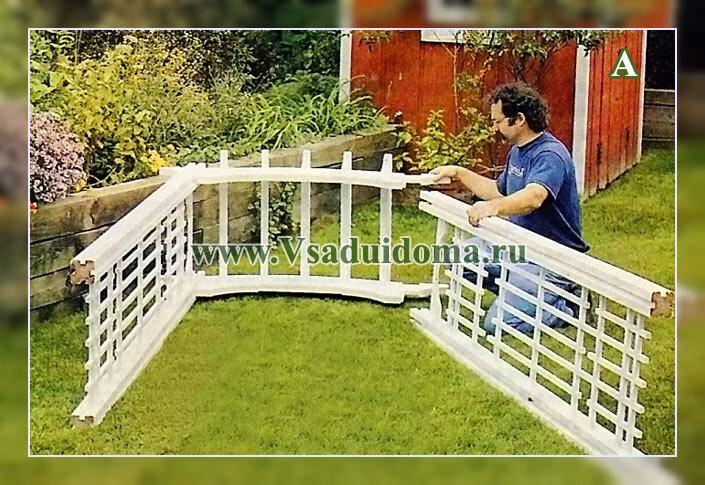 как сделать арку своими руками в саду - фото