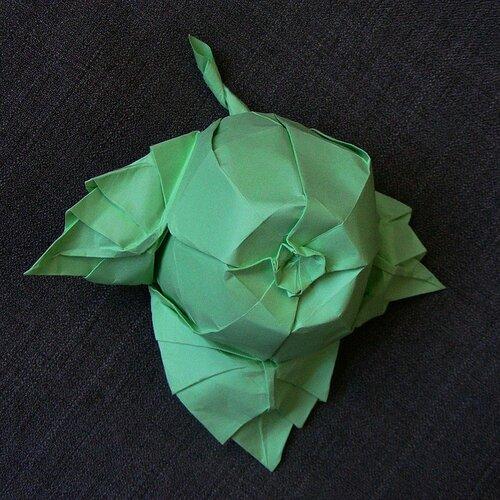 Яблоко. Бумага для оригами