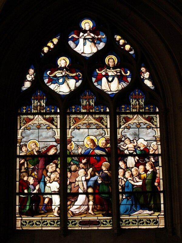 витраж в церкви Св.Северена в Париже