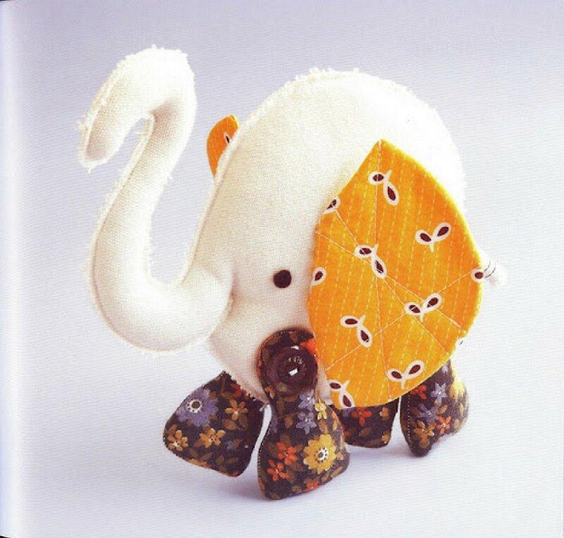 Слон из ткани своими руками