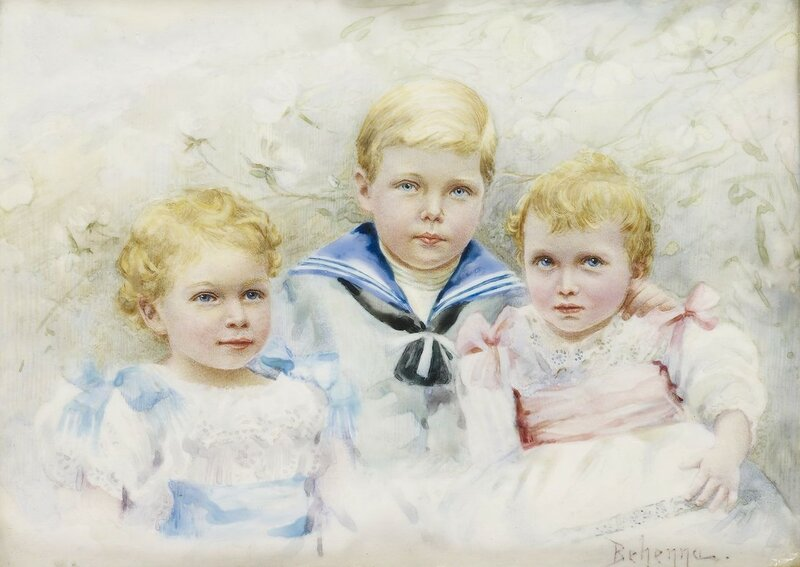 Kathleen Behenna (active 1897)King Edward VIII, King George VI and Princess Mary of York, when children  1898