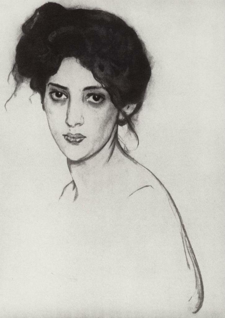 Портрет И.Ю. Грюнберг_1910_Серов Валентин Александрович (1865-1911)