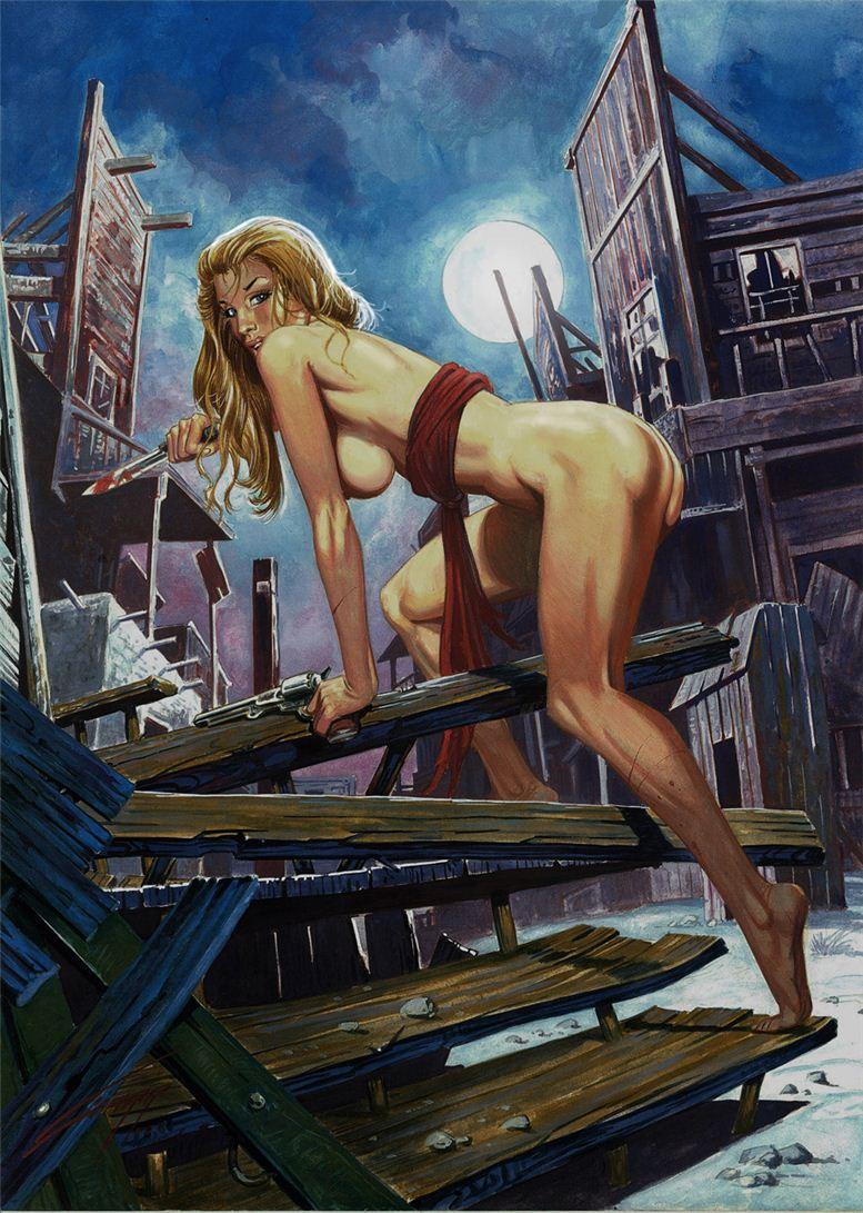 Горячие женщины - Рисунки художника Рафаэля Галлура / Rafael Gallur pictures - Lone Death