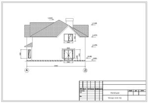 Проект двухэтажного домика.