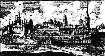 Растенбург в 1684 г. по Харткноху