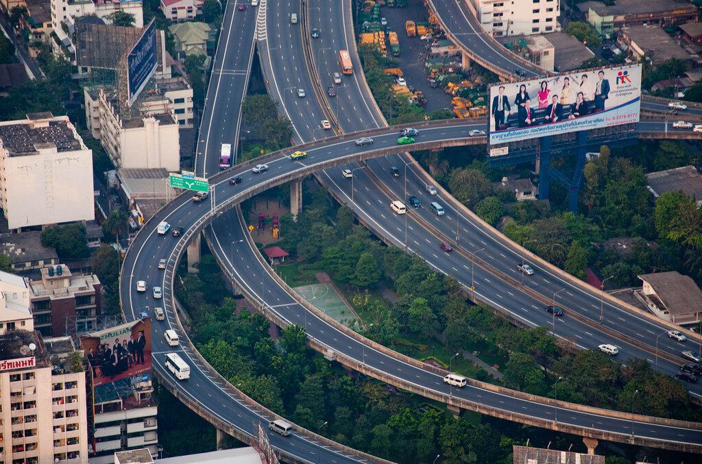 Тайланд, Бангкок, автомобильные развязки