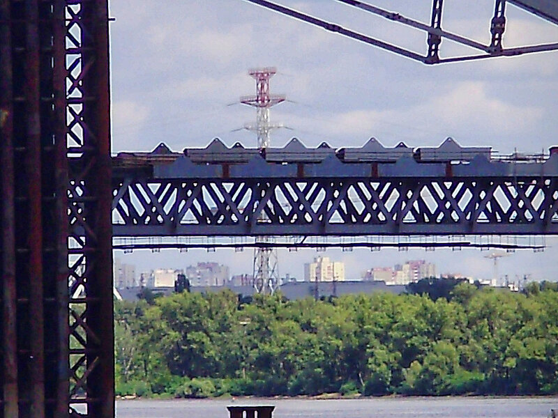 Днепр и пролёт ПВ-моста - 11.08.2012