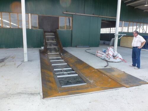 Мусоросортировочный завод в Копейске - приемная площадка
