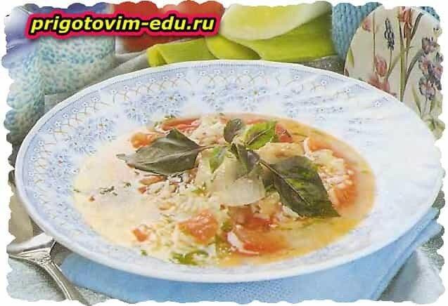 Густой рыбный суп из белой рыбы