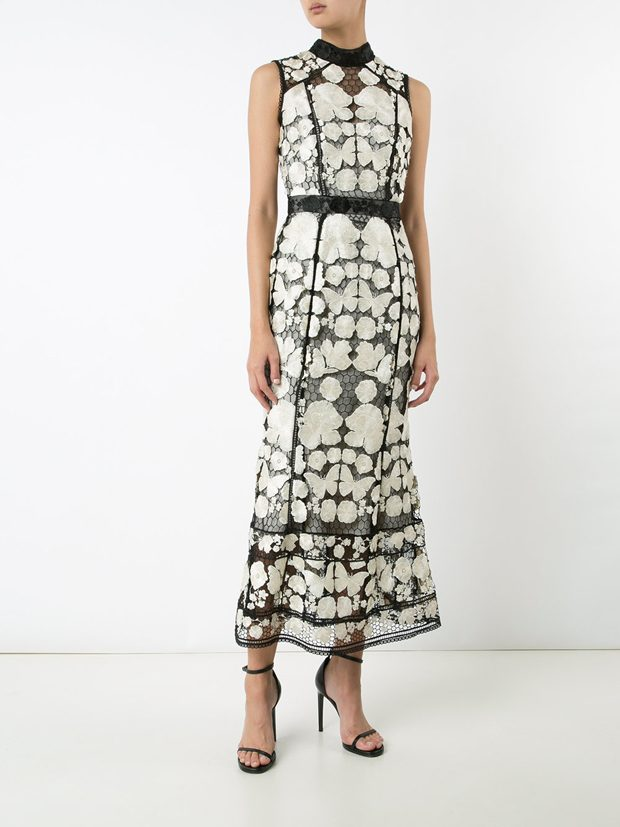 MARCHESA NOTTE embroidered dress
