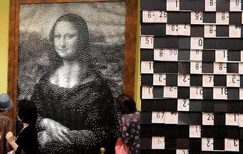 Мона Лиза из билетов