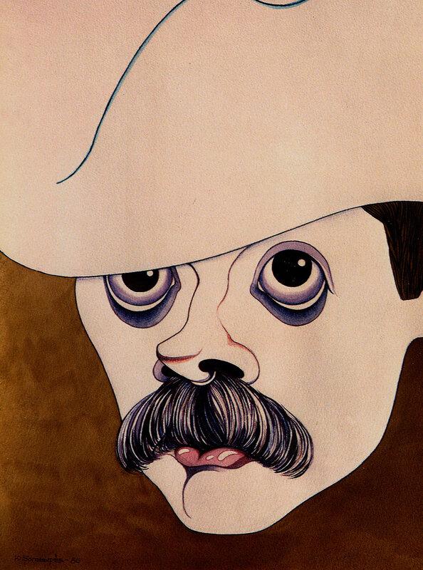 Никита Михалков. Рисунок Юрия Богатырева.