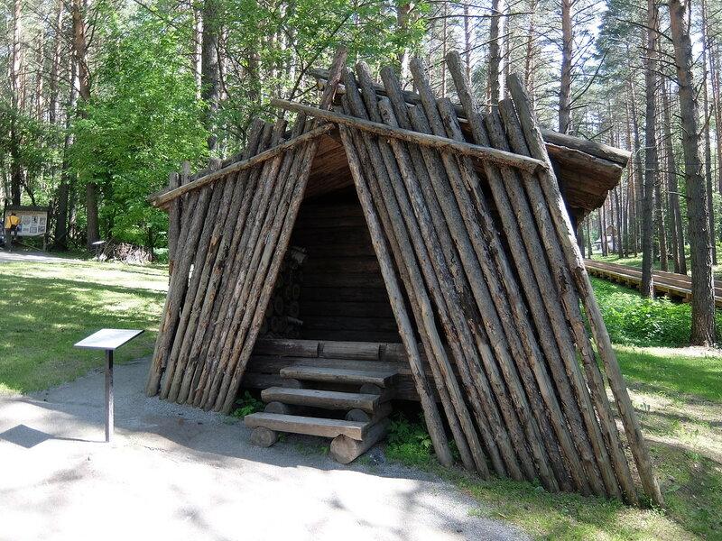 Томская писаница - Шорская усадьба - Баня по-черному