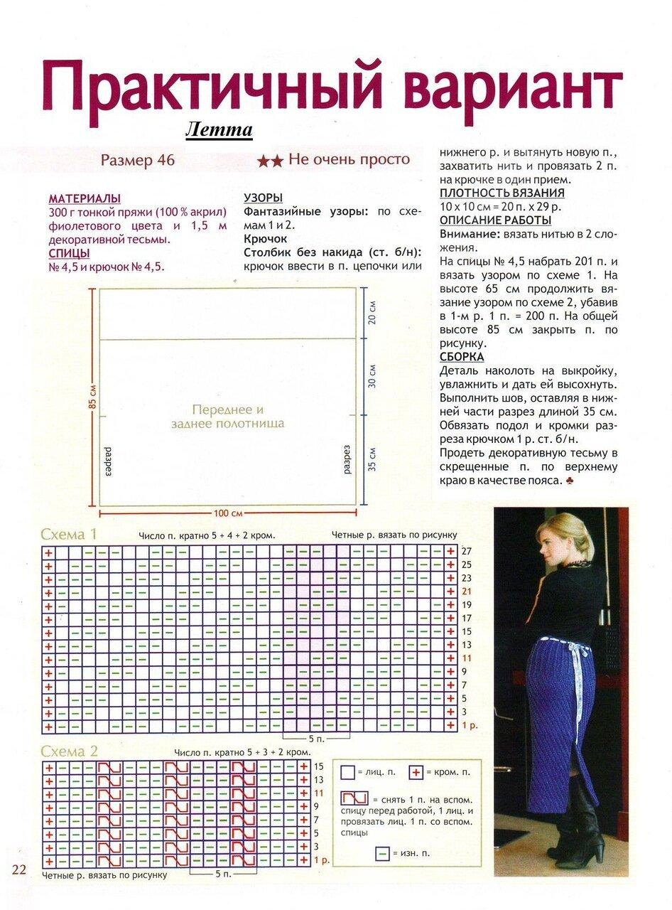 Вязание юбок для женщин схема и описание