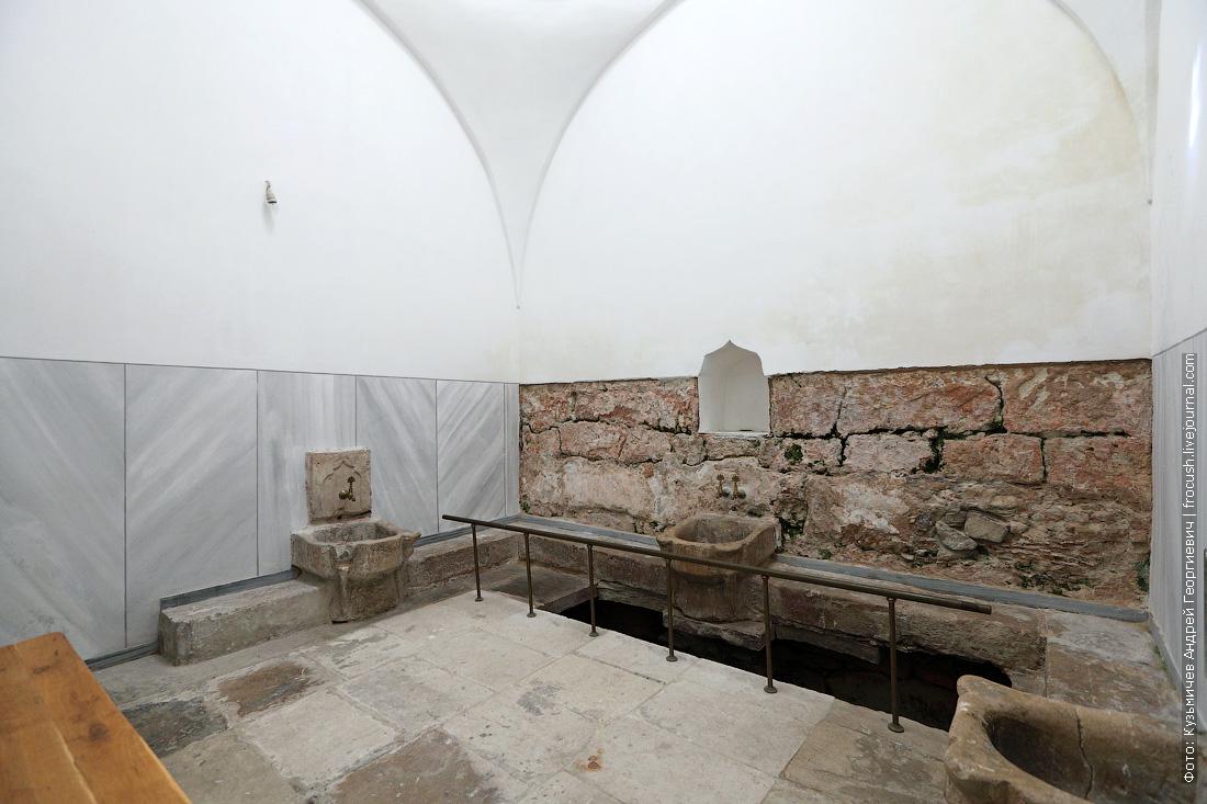 Бахчисарай Ханский дворец баня Моечная женская