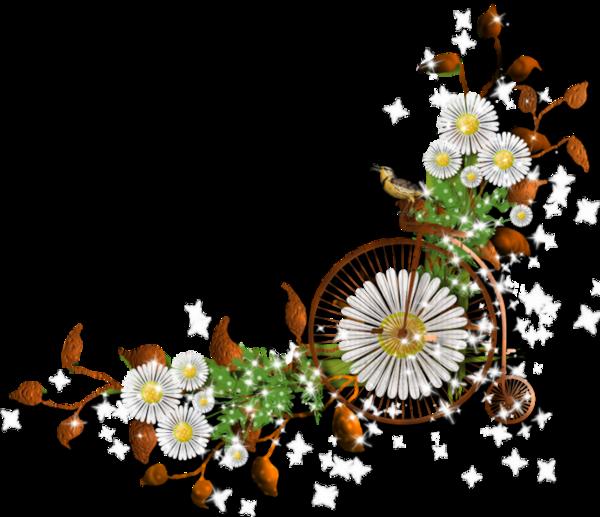 """Цветочные уголки - клипарт на прозрачном фоне Flower corners """" Портал графики и дизайна: векторный и растровый клипарт, уроки, ф"""