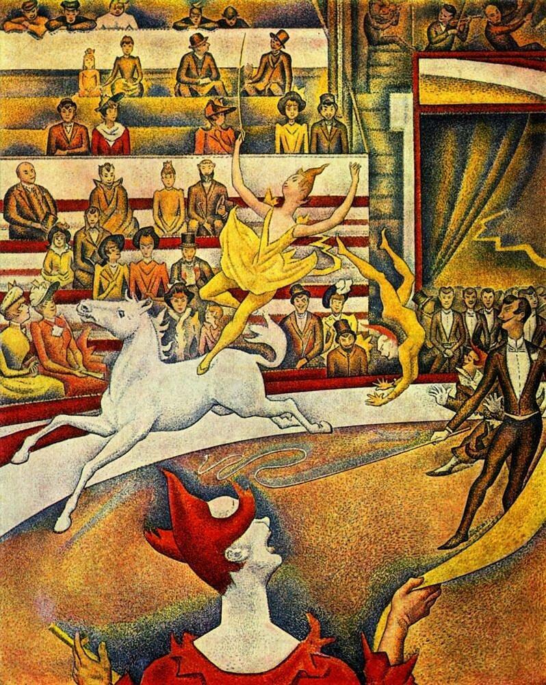 Сёра, Цирк, 1891г. Musée d'Orsay Paris