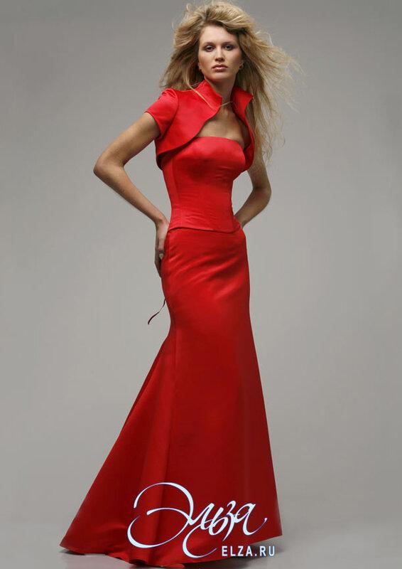 Свадебные платья красного цвета 5