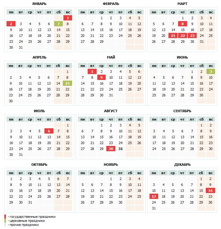 Выходные дни в марте в узбекистане