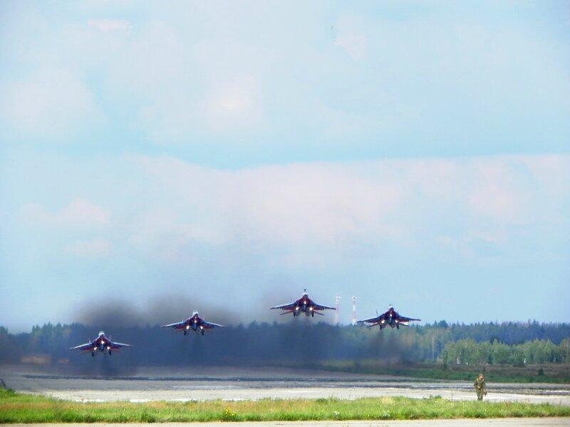 Полеты 100 ВВС РОССИИ