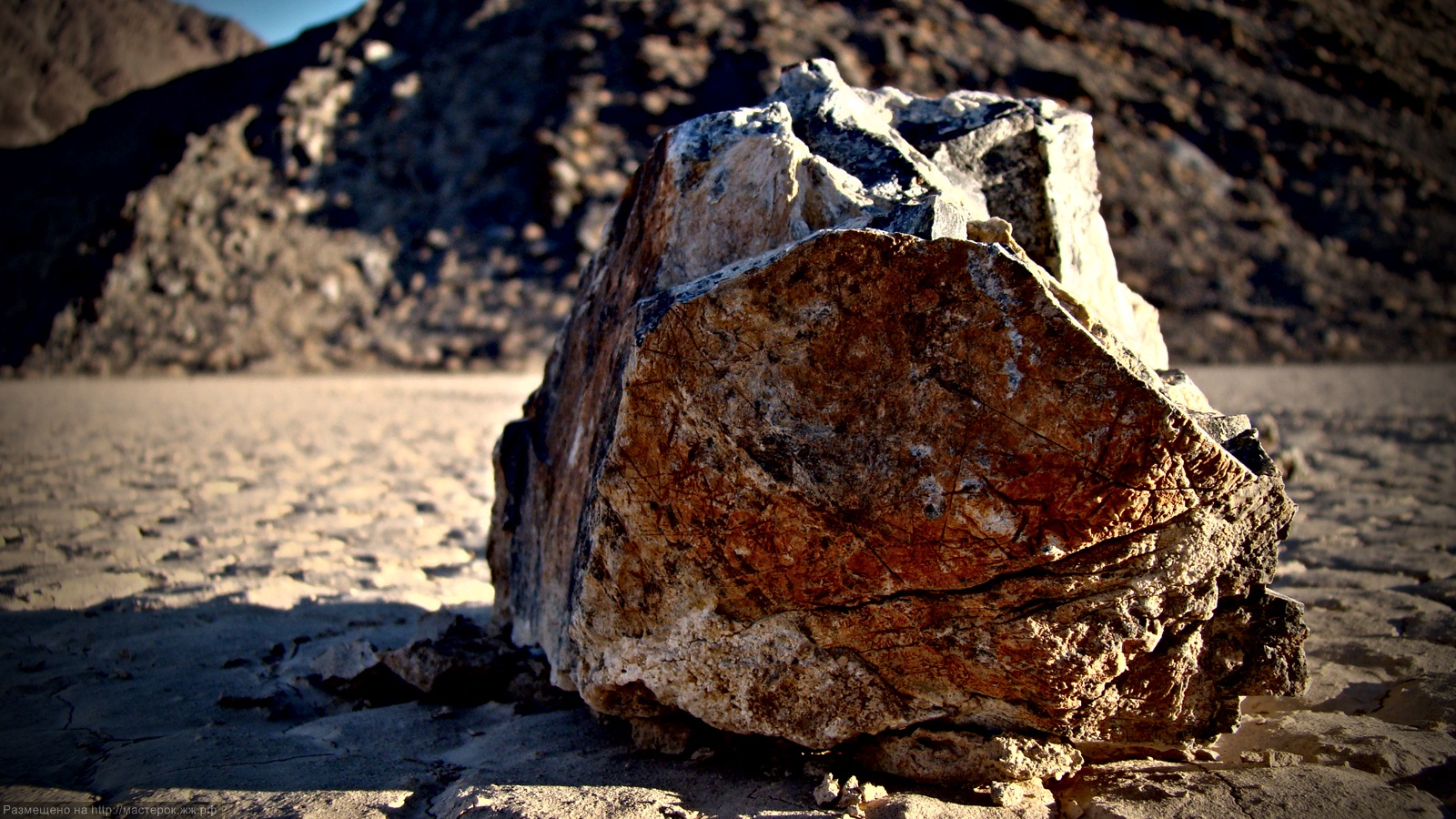 the rolling stones. Death Valley Racetrack Playa, CA