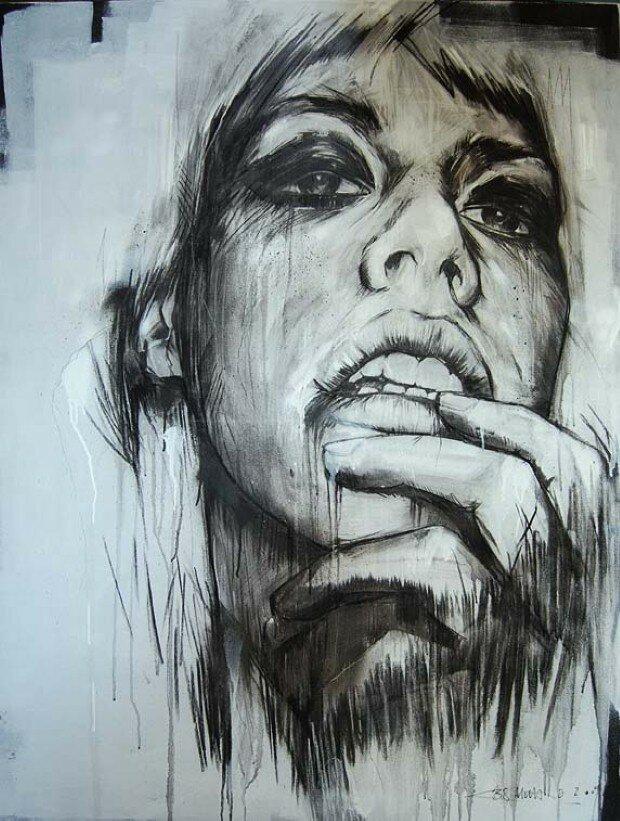 Эмоциональные рисунки. Russ Mills 17