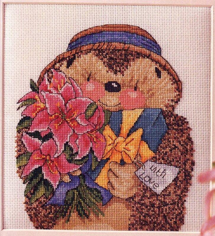 Ежик с цветами картинки 6