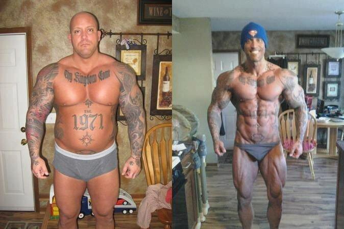Бодибилдинг до и после сушки, базовые и изолирующие упражнения