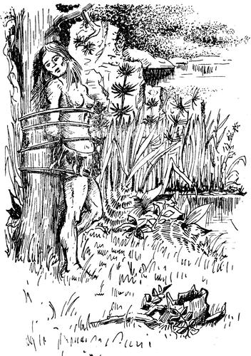 Девушка привязана в лесу фото фото 179-505