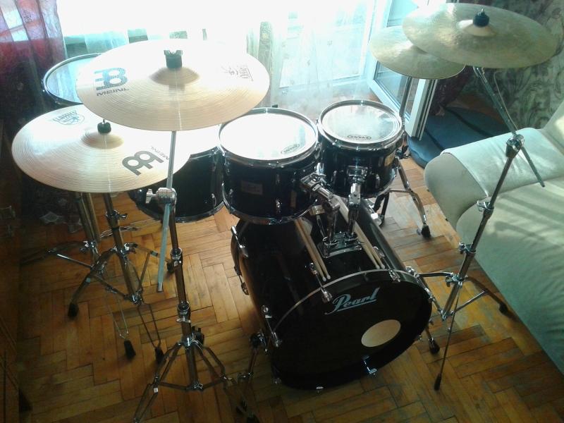 """Pearl Session Custom 10"""", 12"""", 14"""", 16"""", 22"""" + стойки + тарелки"""