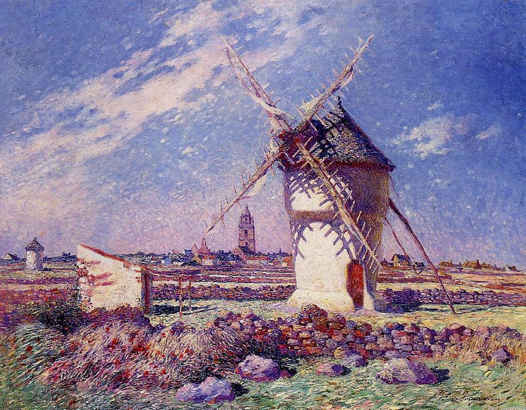 Ferdinand du Puigaudeau - Windmills near the Town of Batz.jpeg