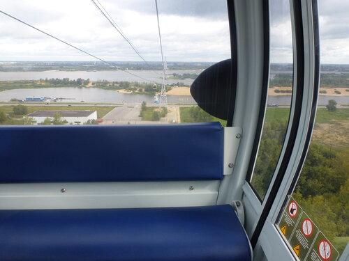 Вид из кабинки канатной дороги Нижний Новгород