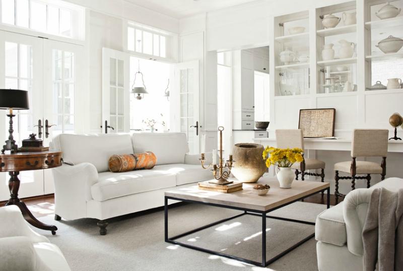 Белый цвет в интерьере гостиной, фото 6