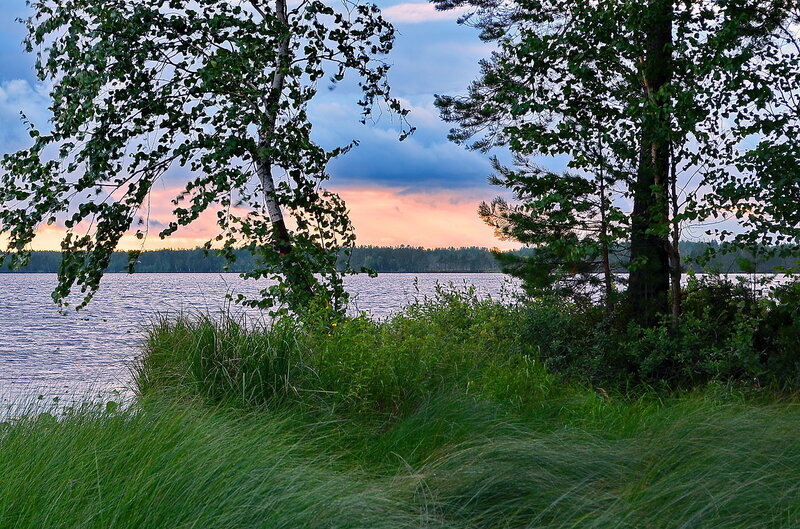 Пейзаж на озере Нюхти