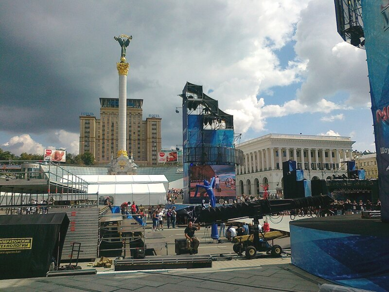 Главная сцена Майданс-3 на Майдане Незалежности