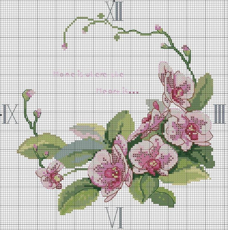 Вышивка схема орхидея 10